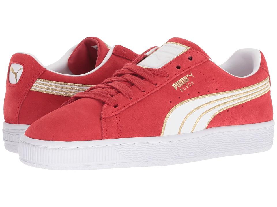 PUMA Suede Varsity (Ribbon Red/Puma White) Women's Shoes