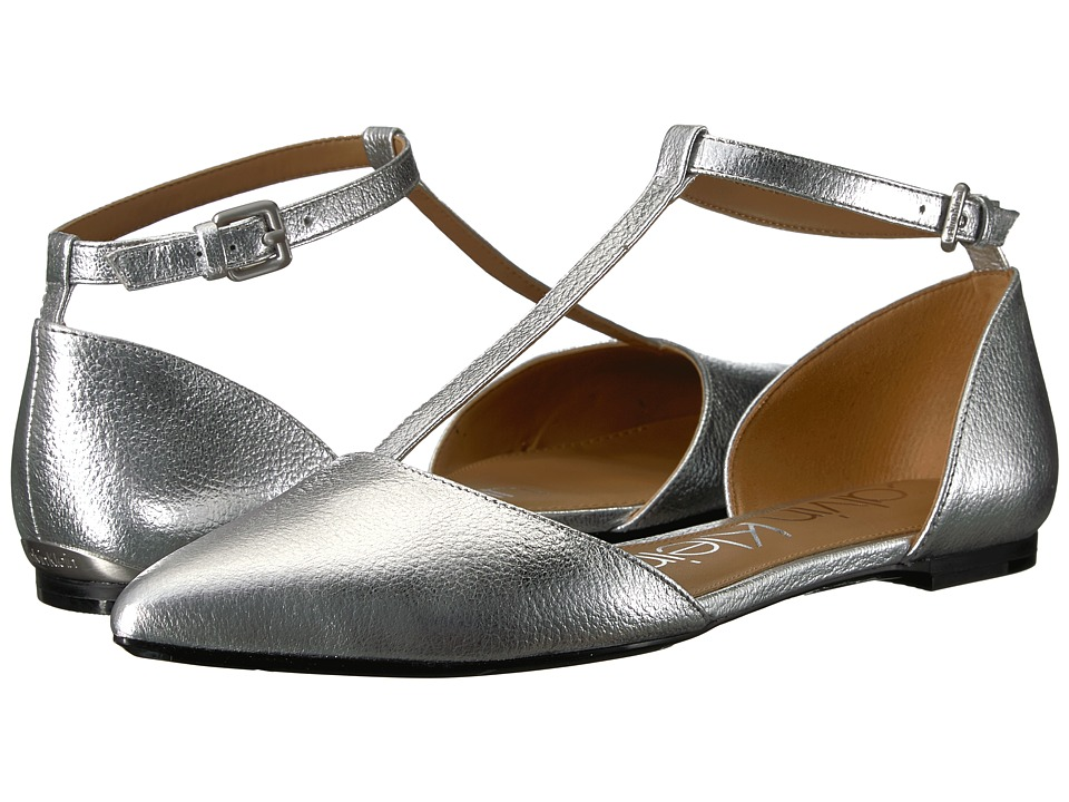 Calvin Klein - Ghita Flat (Silver 1) Womens Dress Flat Shoes