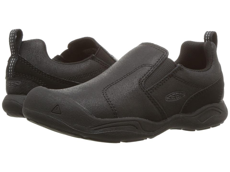 Keen Kids Jasper Slip-On (Little Kid/Big Kid) (Black/Raven) Kids Shoes