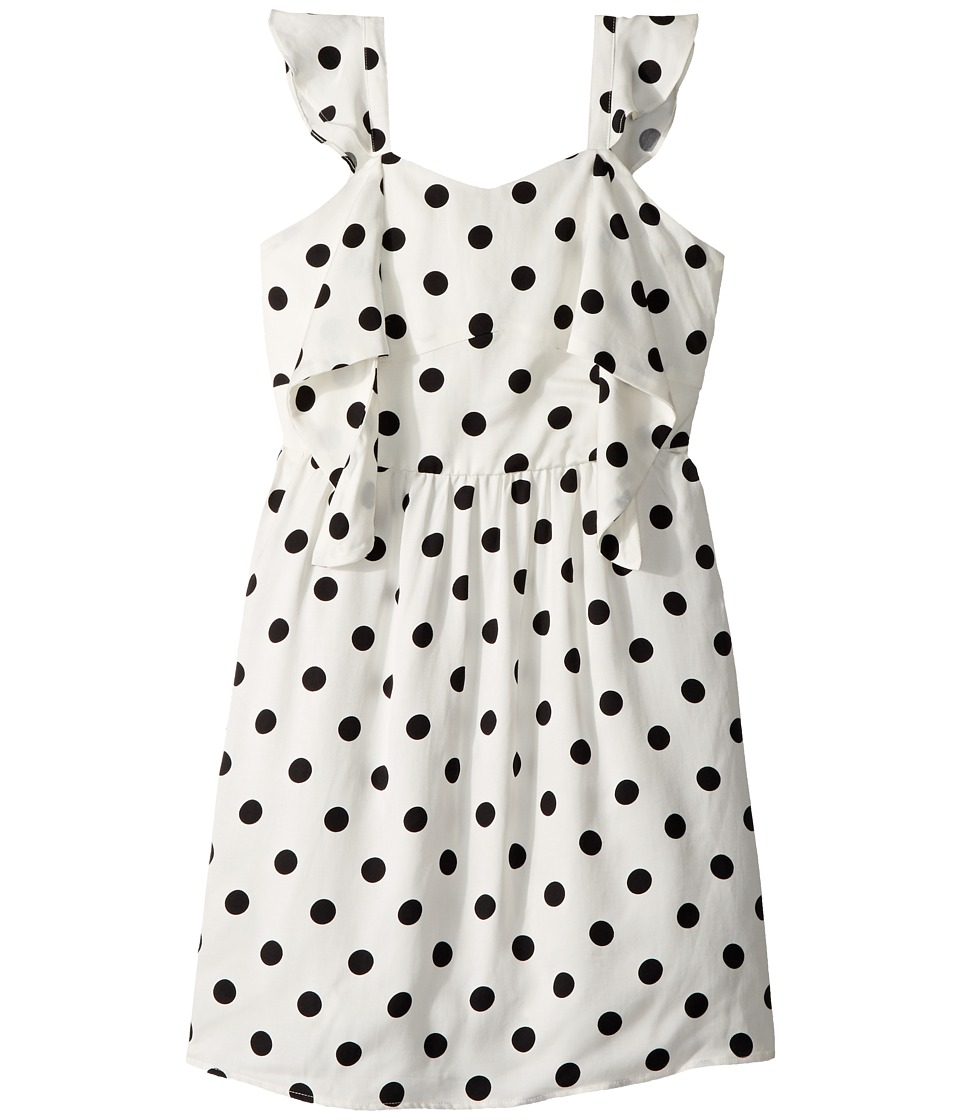 Bardot Junior - Spot Knot Dress (Big Kids) (White Spot) Girls Dress