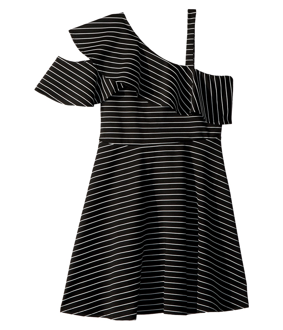 Bardot Junior - Senna Ruffle Dress (Big Kids) (Stripe) Girls Dress