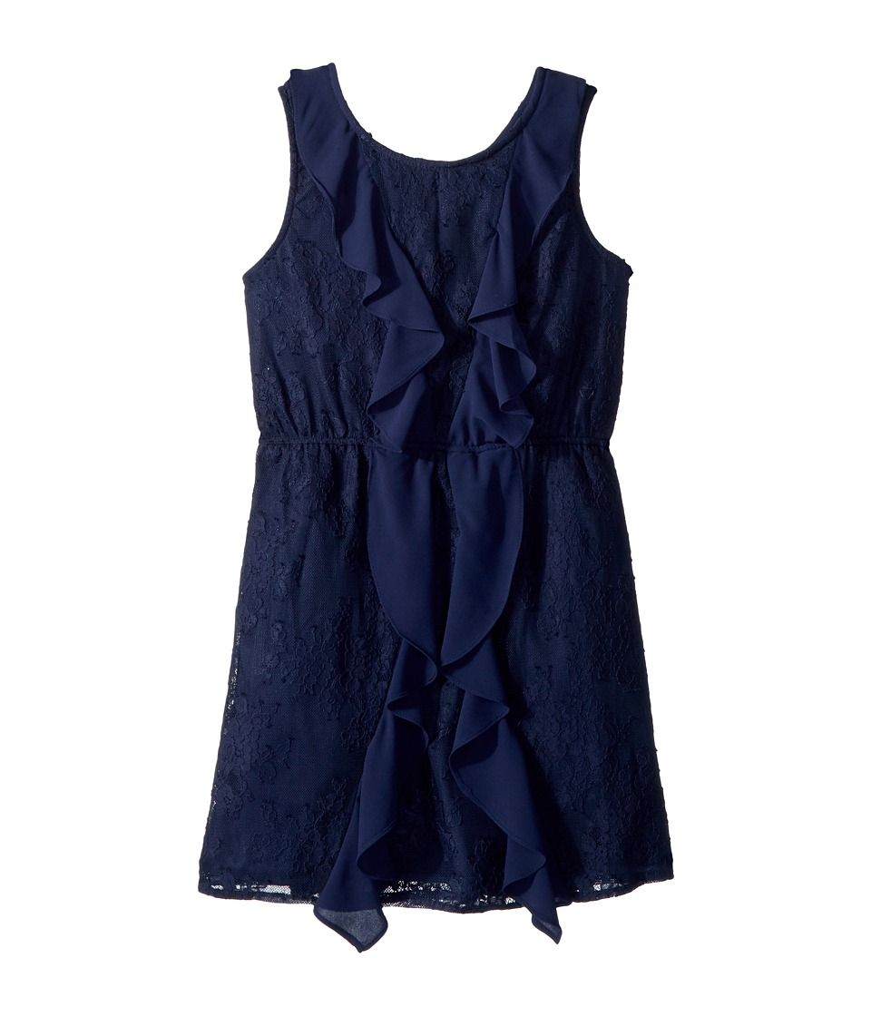 Bardot Junior - Hallie Lace Dress (Big Kids) (Blue Ink) Girls Dress