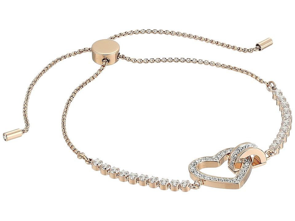 Swarovski Lovely Bracelet (Rose Gold Plating/White) Bracelet