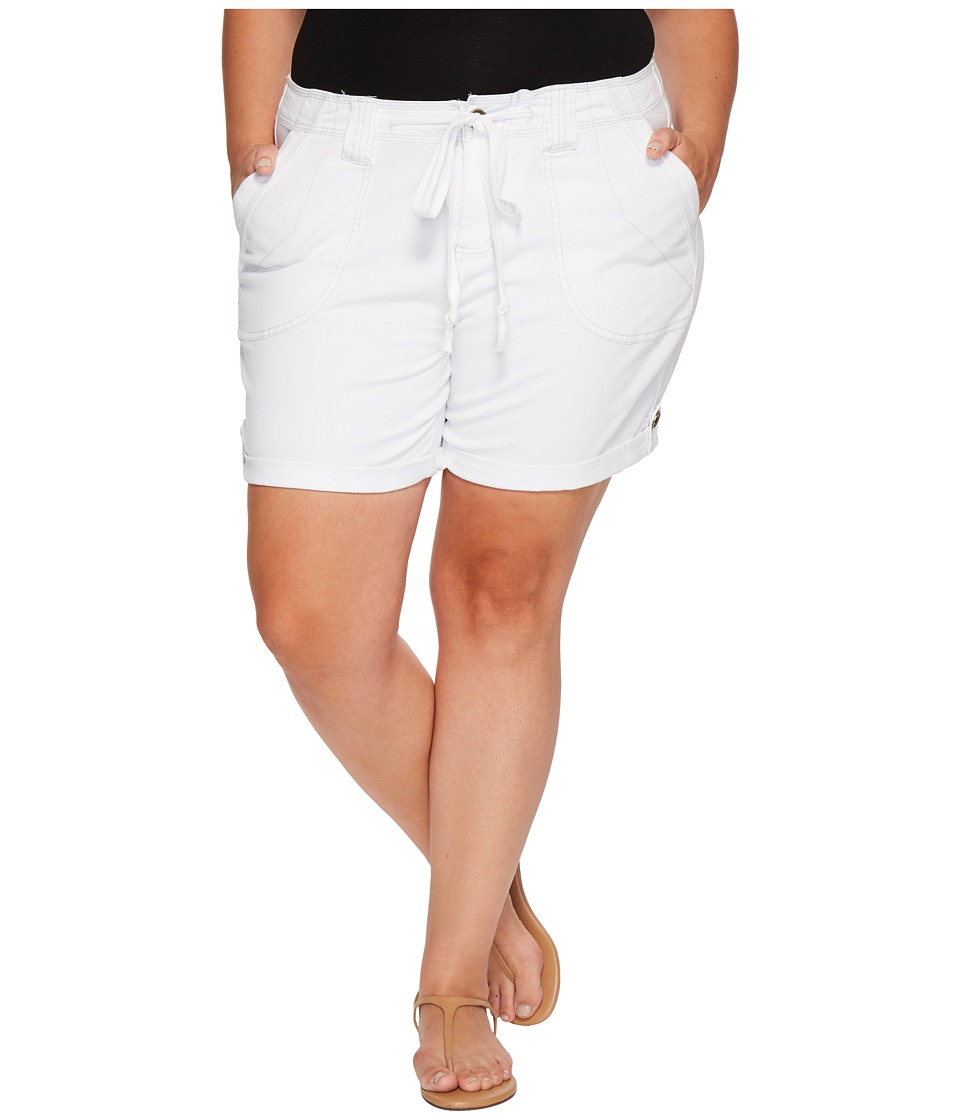Jag Jeans Plus Size - Plus Size Adeline Twill Shorts (White) Womens Shorts