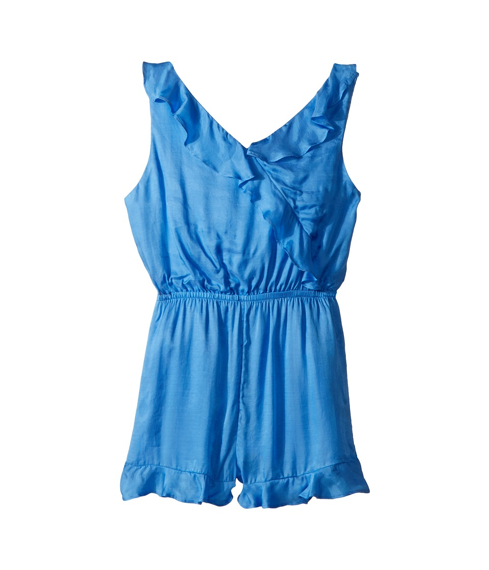 Bardot Junior - Lucia Frill Romper (Big Kids) (Marina Blue) Girls Jumpsuit & Rompers One Piece