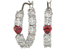 Swarovski Love Hoop Pierced Earrings