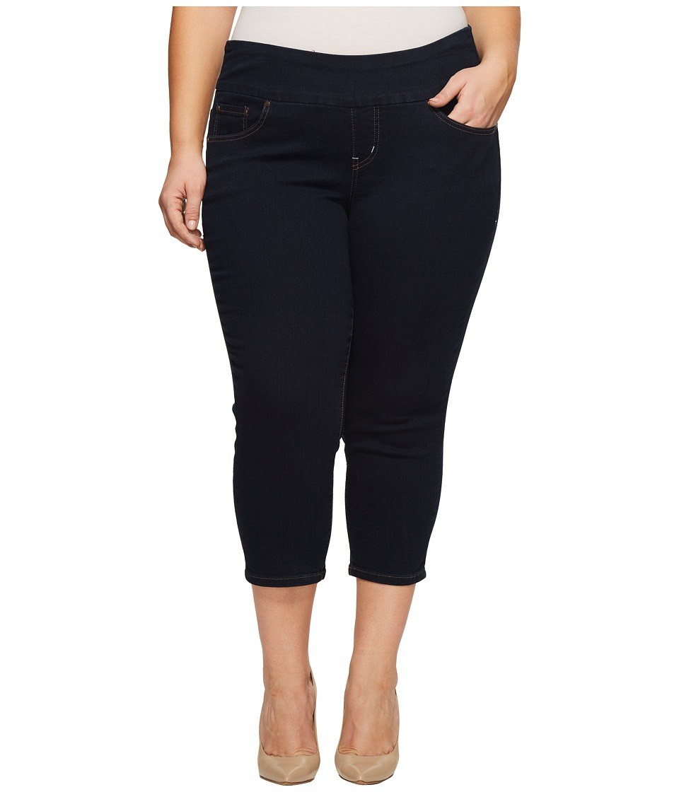 Jag Jeans Plus Size - Plus Size Peri Straight Pull-On Denim Crop (After Midnight) Womens Jeans