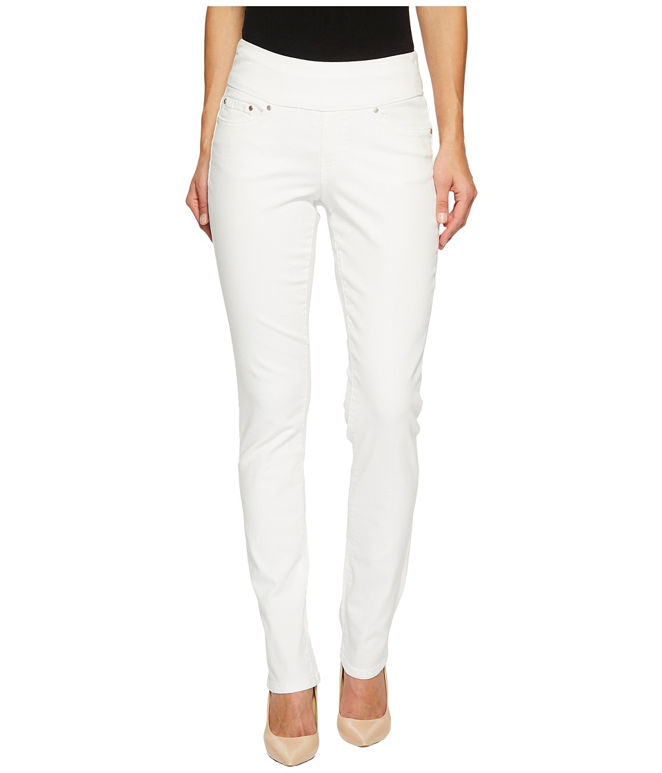 Jag Jeans - Peri Pull-On Straight in White Denim (White) Womens Jeans