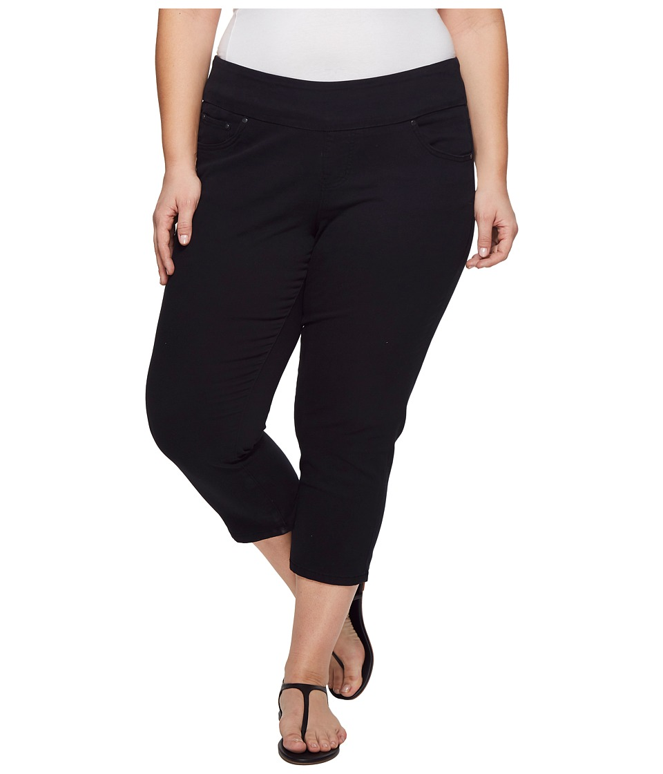 Jag Jeans Plus Size - Plus Size Peri Straight Pull-On Twill Crop (Black) Womens Jeans