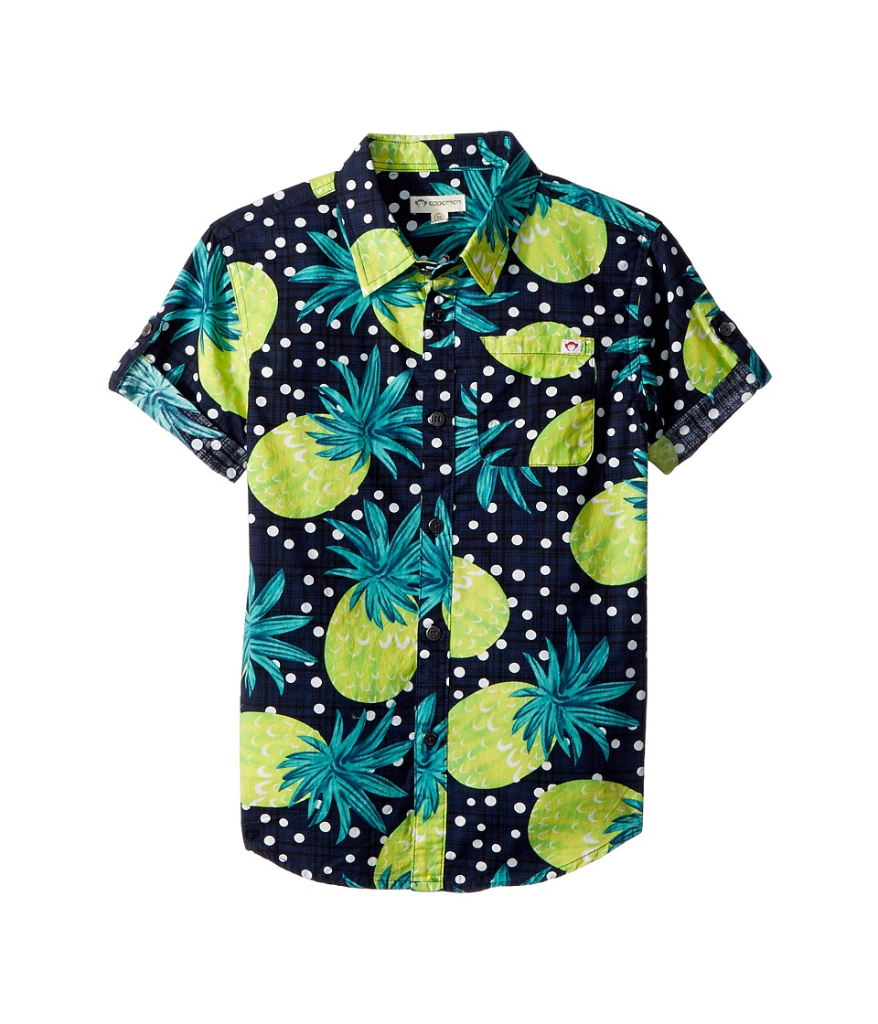 Appaman Kids - Polka Dot Pattern Shirt (Toddler/Little Kids/Big Kids) (Pina) Boys Clothing