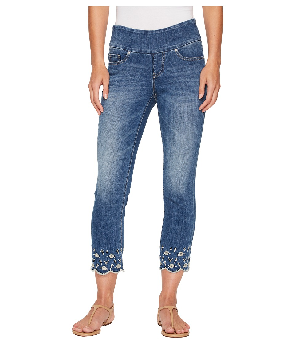 Jag Jeans - Lewis Straight Pull-On Ankle w/ Embroidery in Skydive (Skydive) Womens Jeans