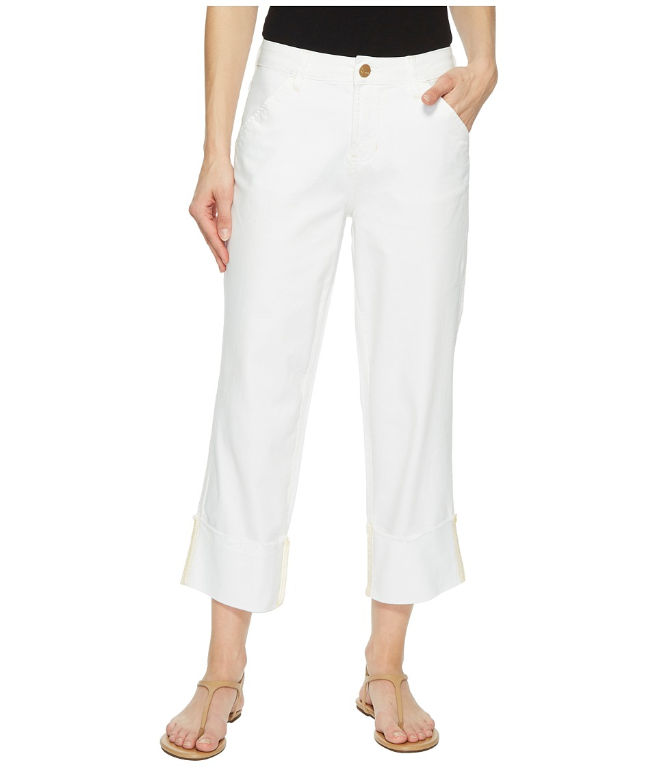 Jag Jeans - Eden Wide Cuff Denim Crop in White (White) Womens Jeans