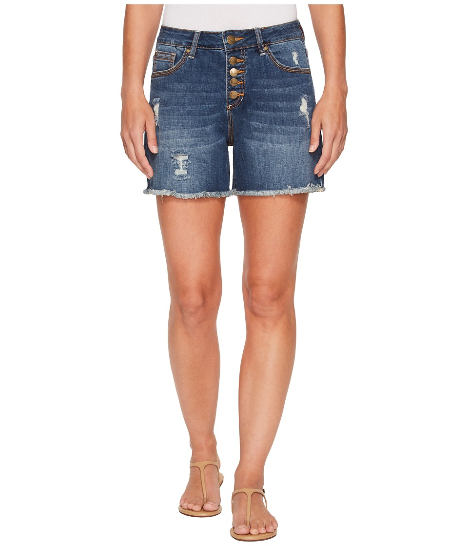 Jag Jeans - Jules High-Rise Cut Off Denim Shorts in Thorne Blue (Thorne Blue) Womens Shorts