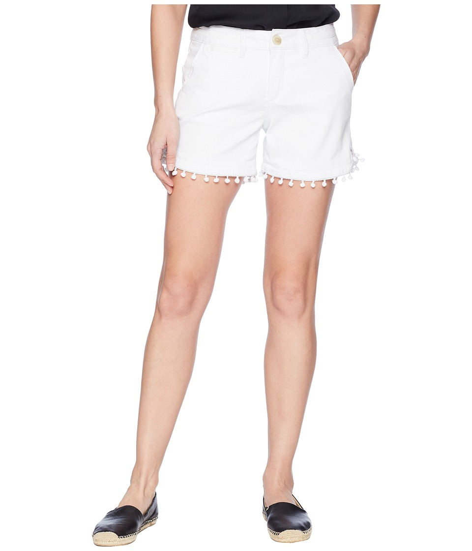 Jag Jeans - Cadet Shorts with Pom Poms in White (White) Womens Shorts