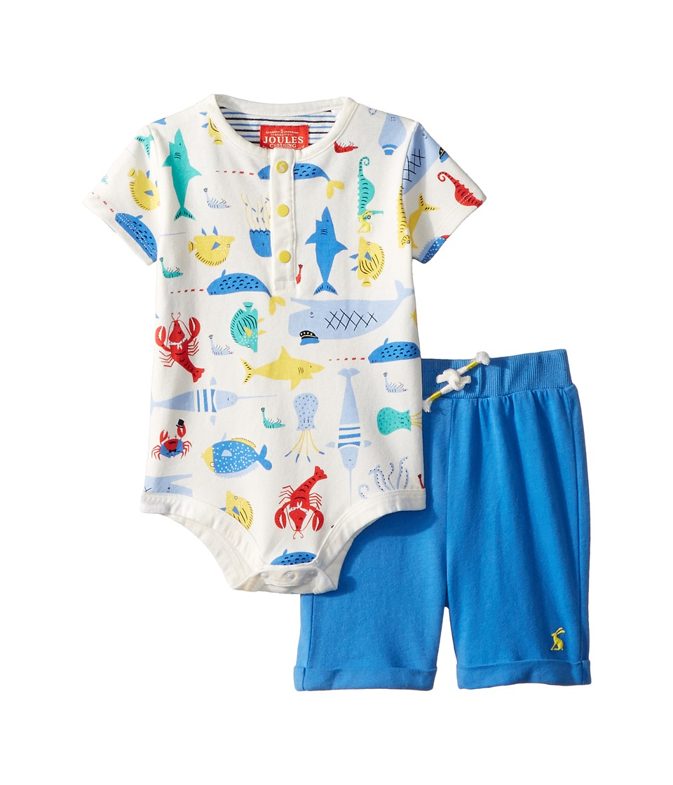 Joules Kids - Bodysuit and Shorts Set (Infant) (Cream Sea Time) Boys Active Sets