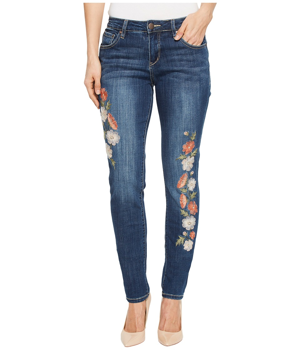 Jag Jeans - Sheridan Skinny Jeans w/ Embroidery in Thorne Blue (Thorne Blue) Womens Jeans