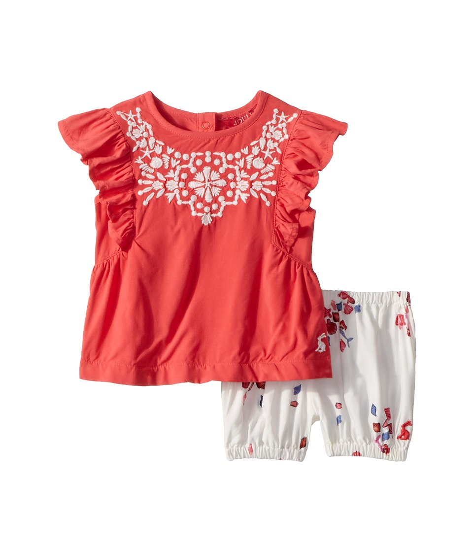 Joules Kids - Woven Top and Bloomer Set (Infant) (Red Sky Seashell) Girls Active Sets