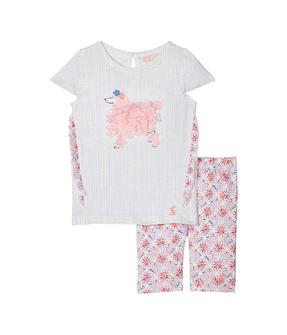 Joules Kids - Frill Top with Crop Leggings Set (Infant) (Cream Summer Mosaic) Girls Active Sets