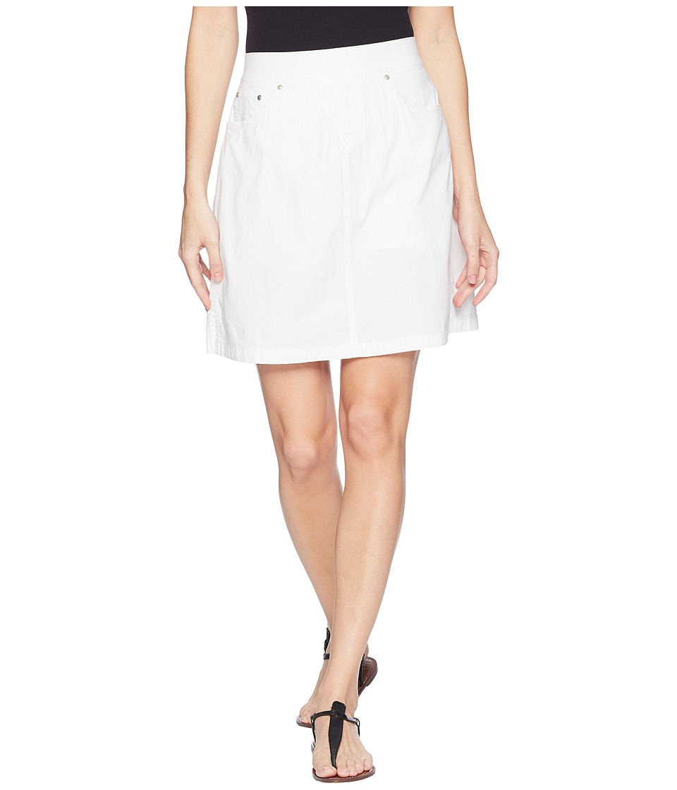 Jag Jeans - On The Go Poplin Skort (White) Womens Skort
