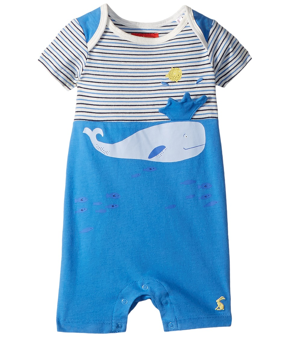 Joules Kids - Applique Knit Romper (Infant) (Whitby Blue) Boys Jumpsuit & Rompers One Piece