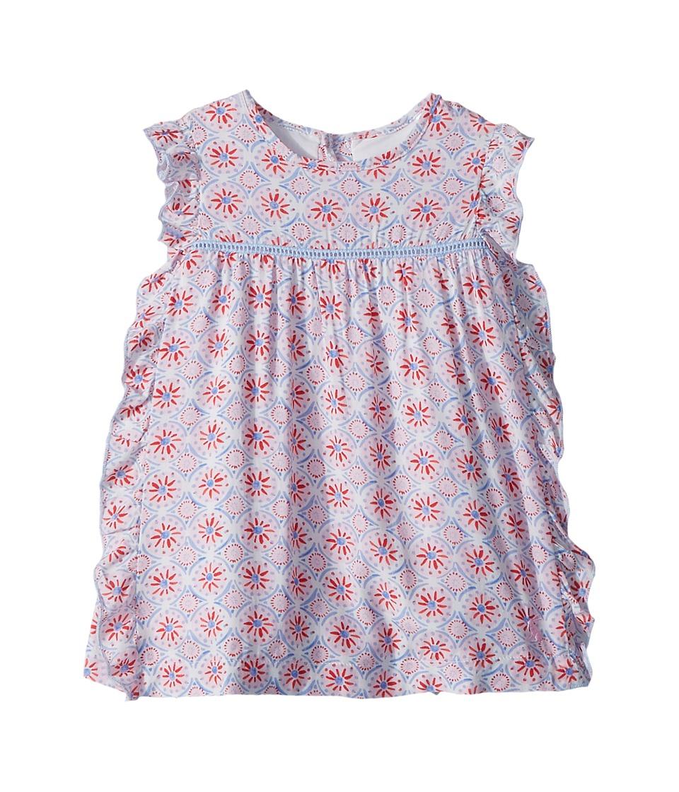Joules Kids - Woven Frill Dress (Infant) (Cream Summer Mosaic) Girls Dress