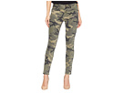 Miss Me Five-Pocket Ankle Skinny Jeans in Camo Green