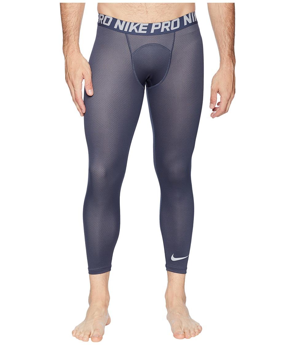 Nike Pro Tights 3/4 Color Burst 2 (Thunder Blue/Wolf Grey/Wolf Grey) Men