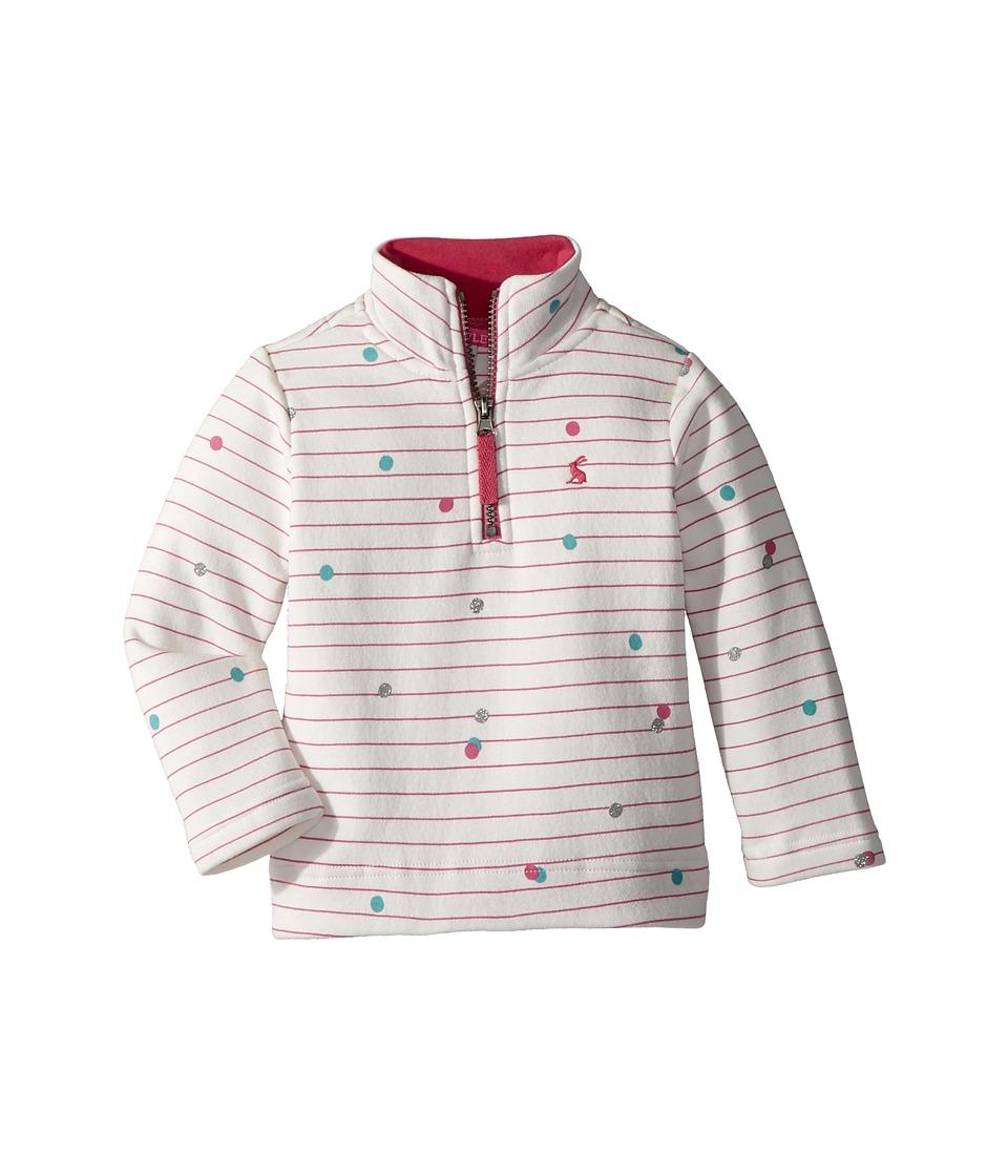 Joules Kids - 1/2 Zip Sweatshirt (Toddler/Little Kids) (Pink Spot) Girls Sweatshirt
