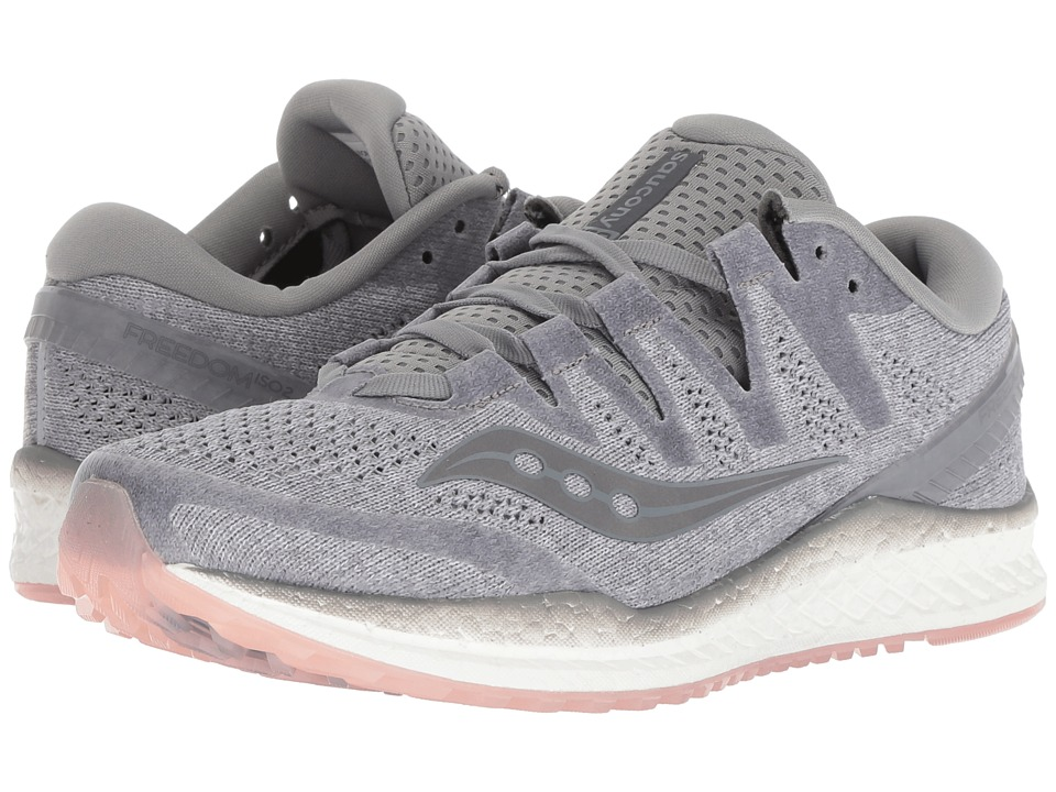 Saucony Freedom ISO2 (Grey/Peach) Women's Running Shoes