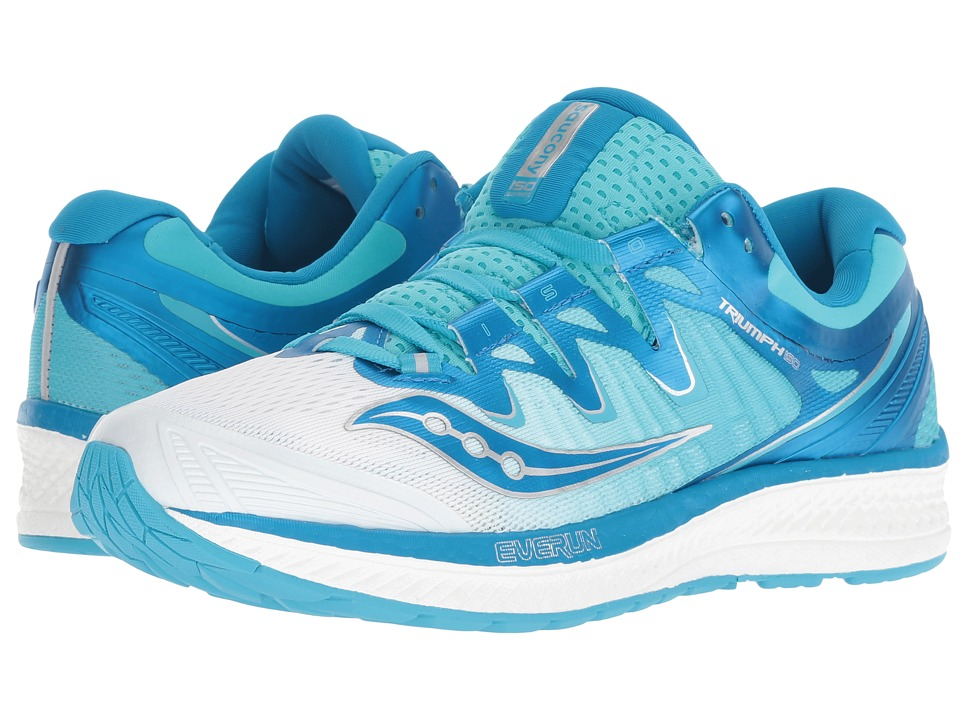 Saucony Triumph ISO 4 (White/Blue) Women's Running Shoes