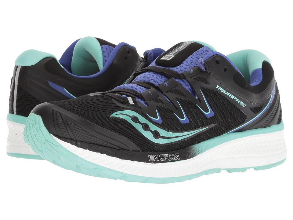 Saucony Triumph ISO 4 (Black/Aqua/Violet) Women's Running Shoes