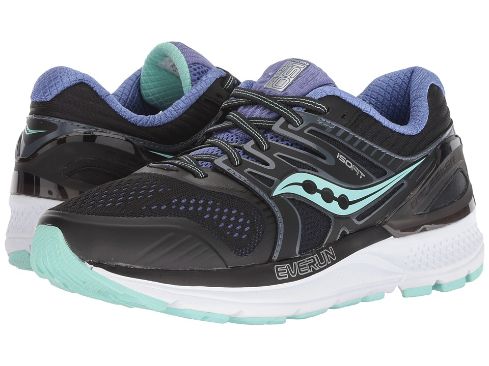 Saucony Redeemer ISO2 (Black/Aqua/Violet) Women's Running Shoes
