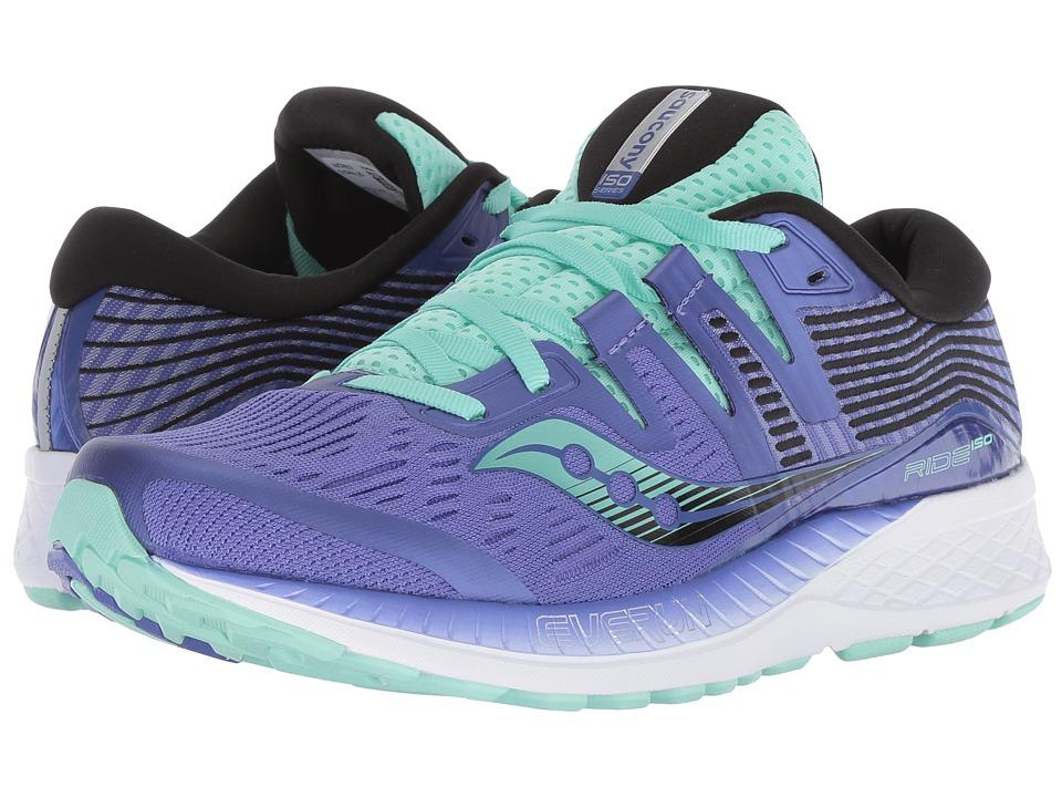 Saucony Ride ISO (Violet/Black/Aqua) Women's Running Shoes