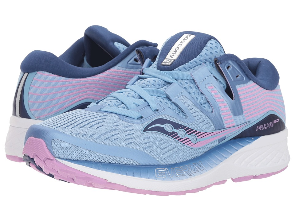 Saucony Ride ISO (Blue/Navy/Purple) Women's Running Shoes