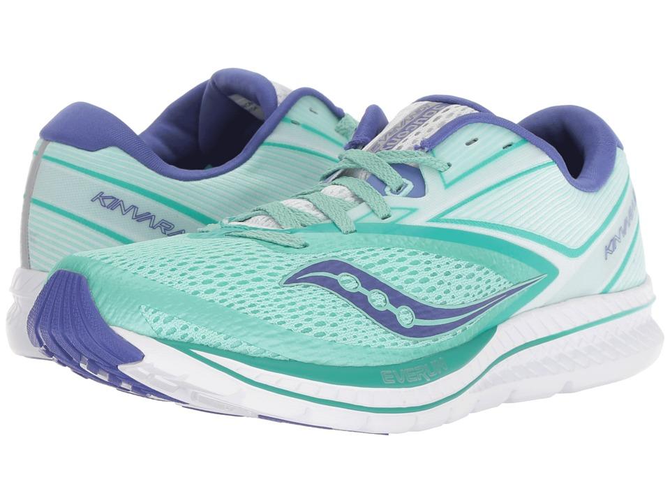 Saucony Kinvara 9 (Aqua/White) Women's Running Shoes