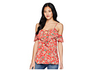 Miss Me Miss Me Open Shoulder Floral Top