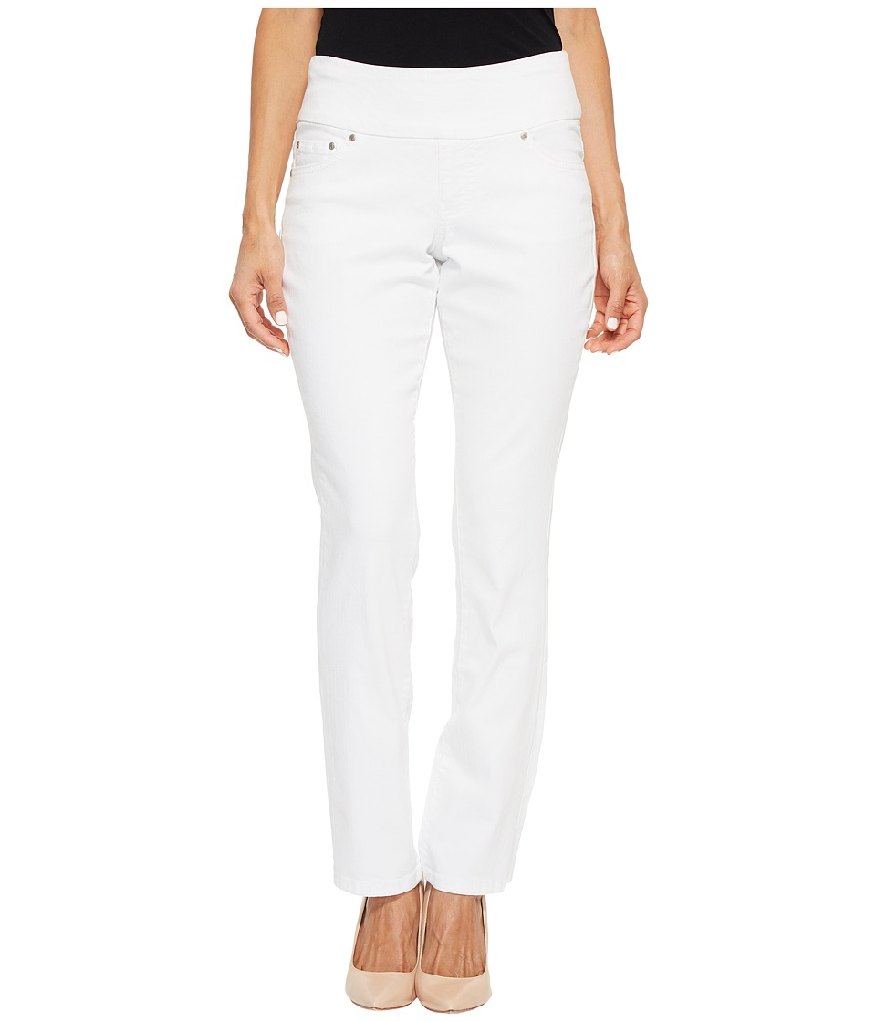Jag Jeans Petite - Petite Peri Straight Pull-On Denim Jeans in White (White) Womens Jeans