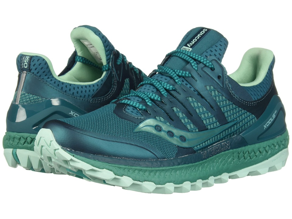Saucony Xodus ISO3 (Green/Aqua) Women's Running Shoes