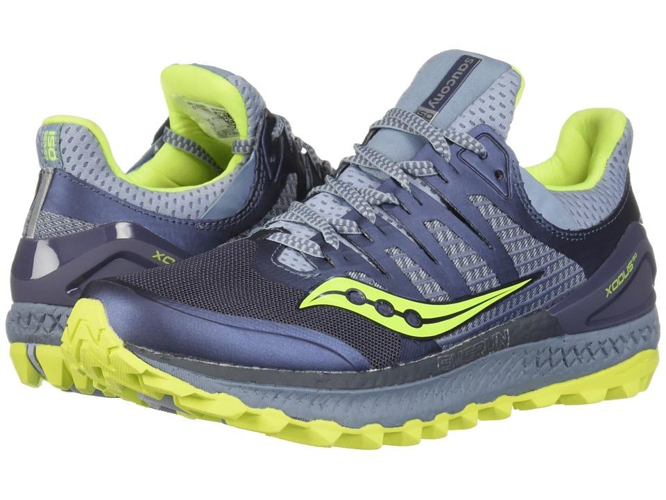 Saucony Xodus ISO3 (Grey/Citron) Women's Running Shoes