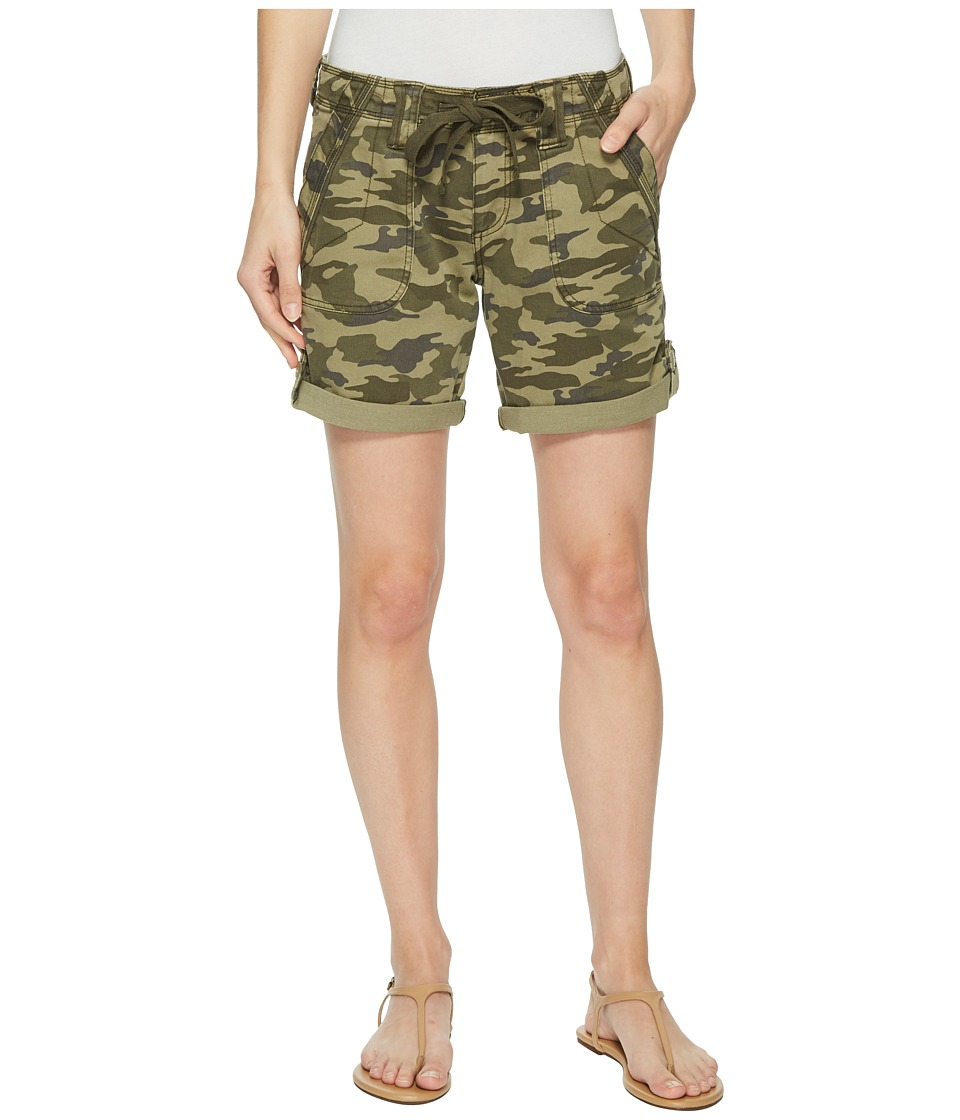 Jag Jeans Petite - Petite Adeline Denim Shorts in Drab Green Camo (Drab Green Camo) Womens Shorts