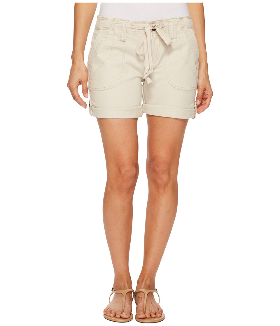 Jag Jeans Petite - Petite Adeline Twill Shorts in Stone (Stone) Womens Shorts