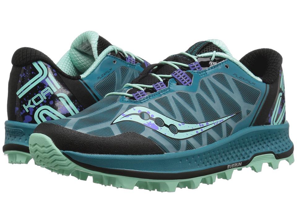 Saucony Koa ST (Green/Black/Aqua) Women's Running Shoes
