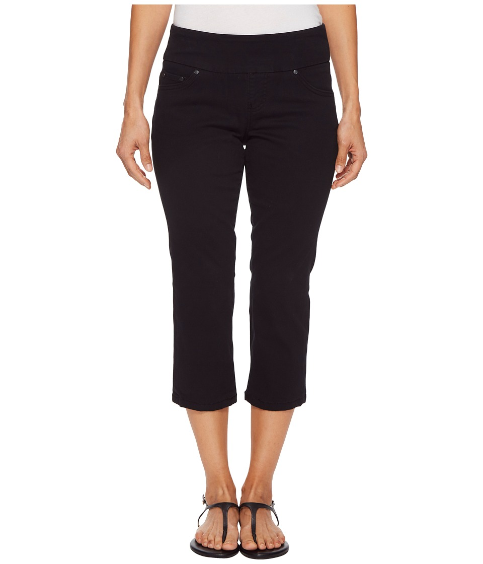 Jag Jeans Petite - Petite Peri Straight Pull-On Twill Crop in Black (Black) Womens Jeans
