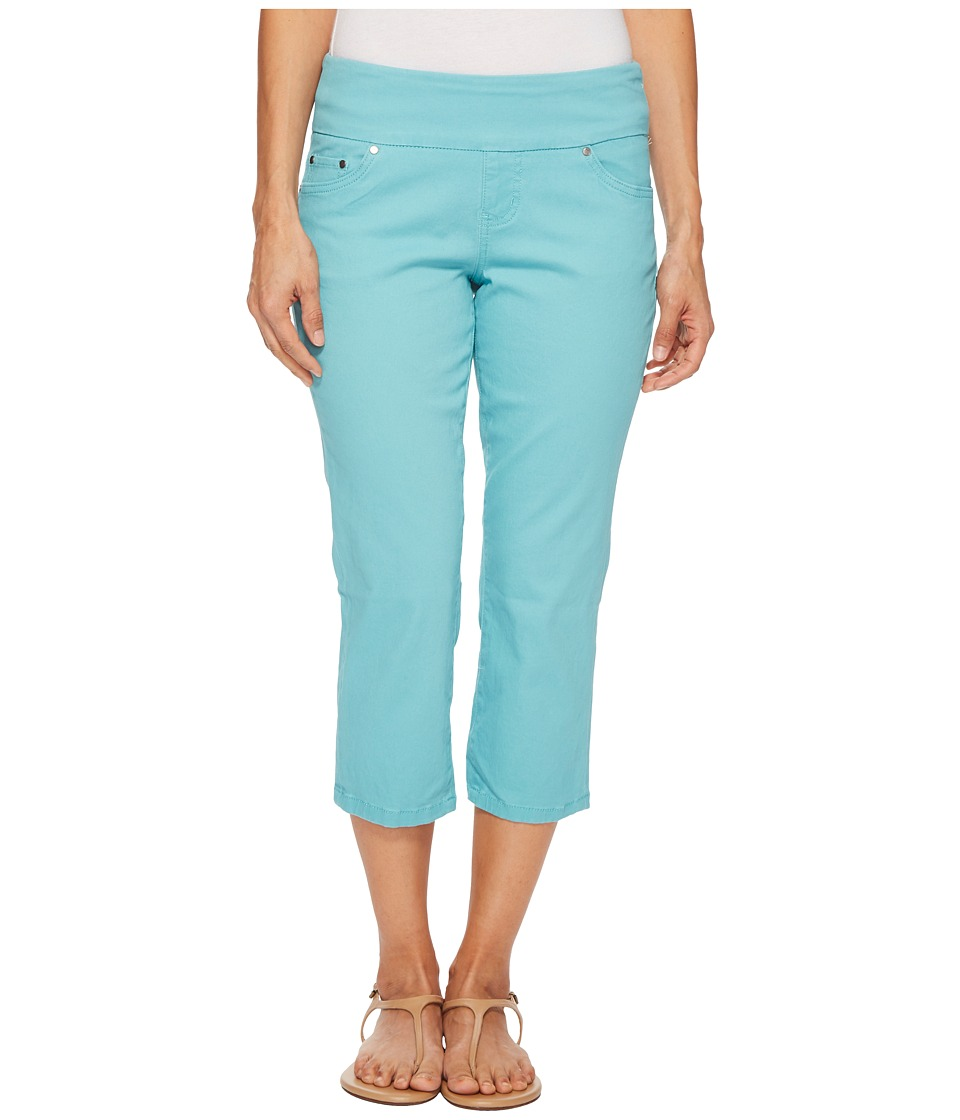Jag Jeans Petite - Petite Peri Straight Pull-On Twill Crop in Caribbean (Caribbean) Womens Jeans