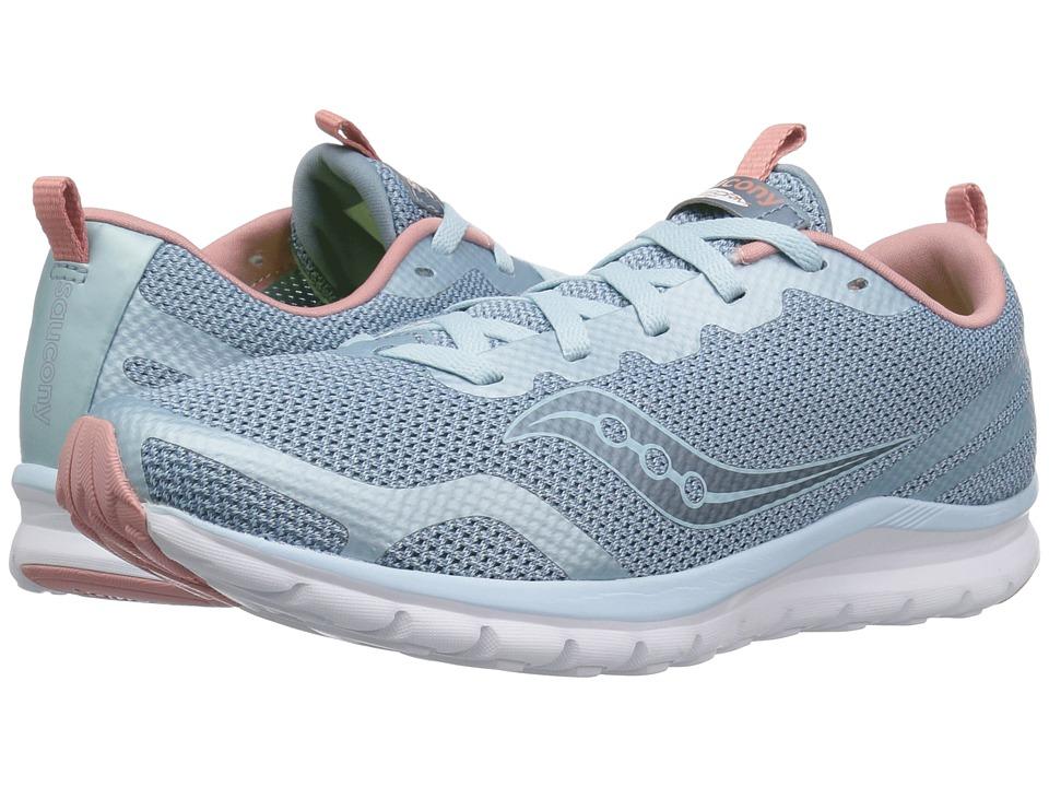 Saucony Liteform Feel (Light Blue/Silver) Women's Running Shoes