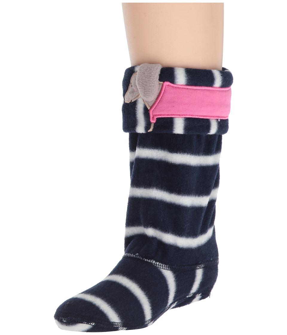 Joules Kids - Smile Fleece Welly Sock (Toddler/Little Kid/Big Kid) (Dog) Girls Shoes