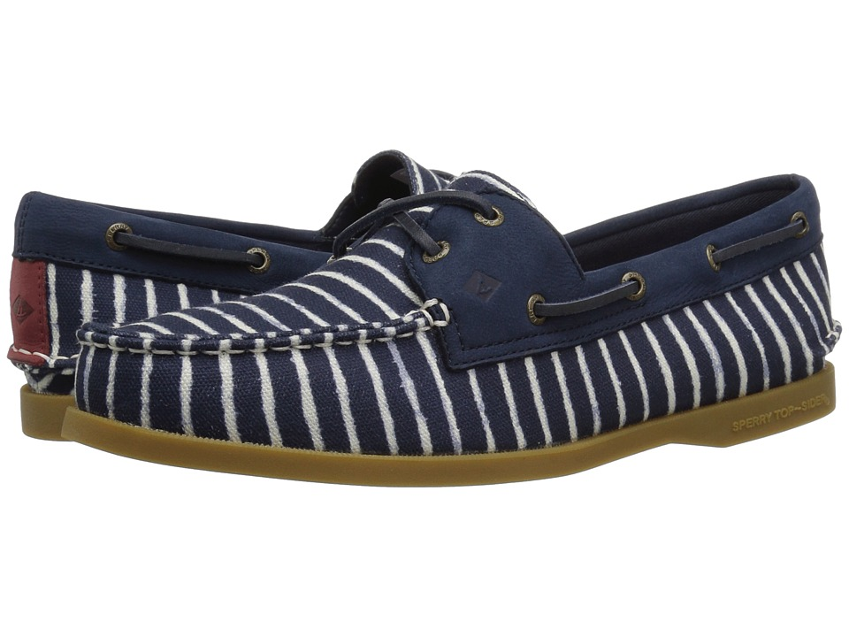 Sperry A/O Indigo Stripe (Navy)