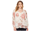 Lucky Brand Plus Size Jenna Peasant Top