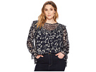 Lucky Brand Plus Size Ruffle Floral Top
