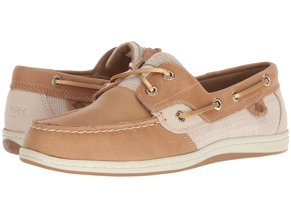 Sperry Koifish Sparkle Crosshatch (Linen/Gold)